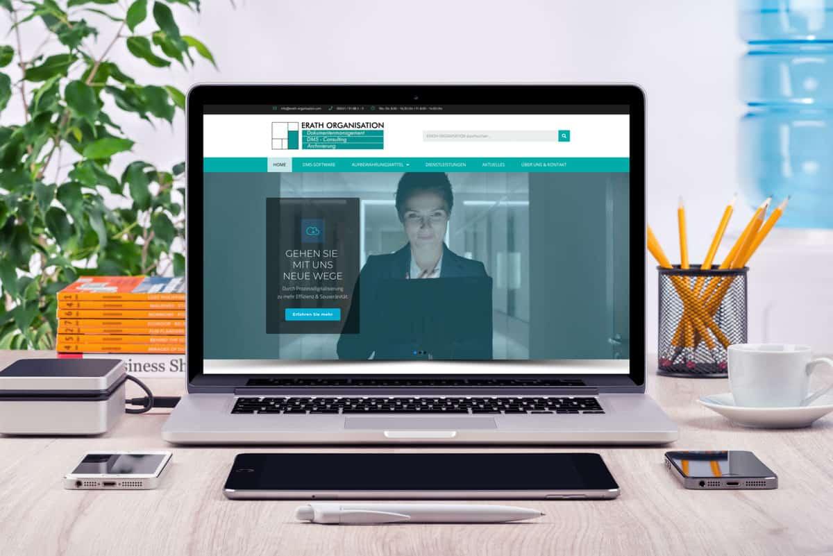 neue Website ERATH ORGANISATION